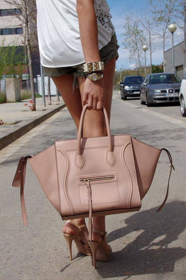 Celine Phantom bag...I WANT!!! Nude is a go-to. | ~ MY kinda style ...