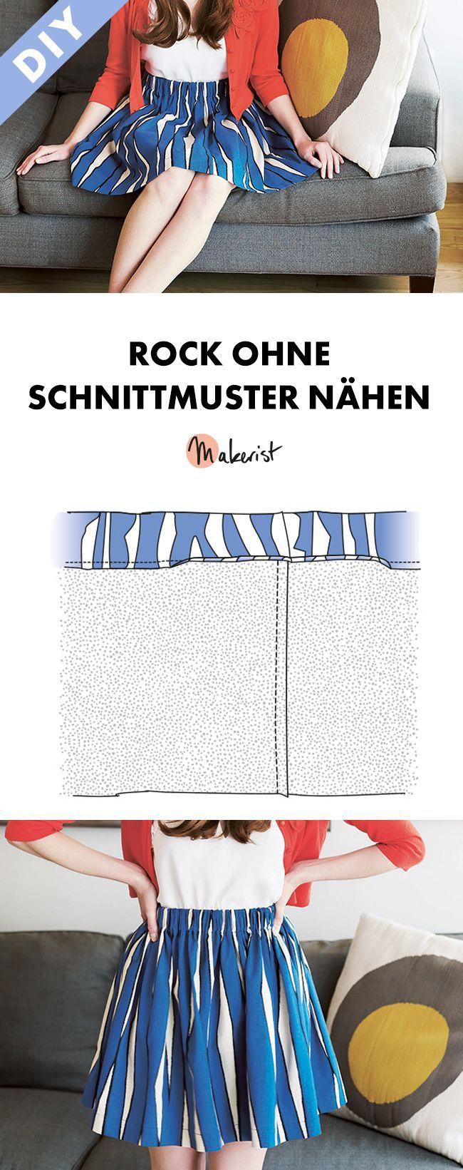 Ruckzuck-skirt sewing without pattern – free sewing via Makerist ….   – Nähen