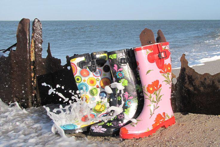 Gosch Shoes Gummistiefel im Gischt Einsatz #gosch #sylt #gummistiefel #buhnen #strand #gischt