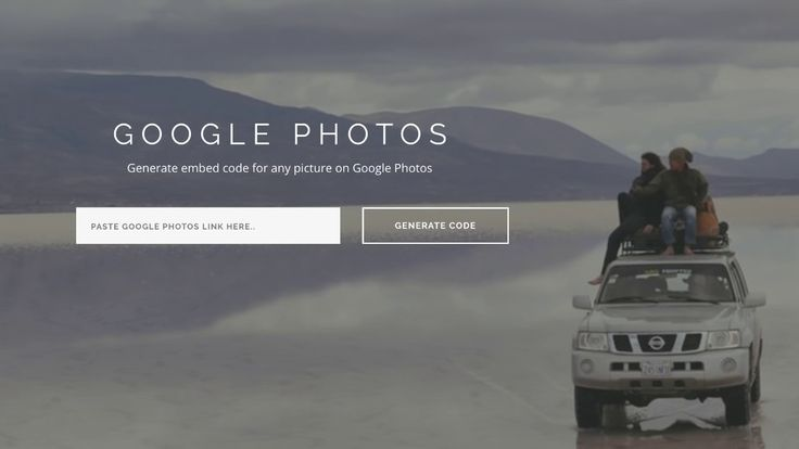 Embed Google Photos in your Website 2017