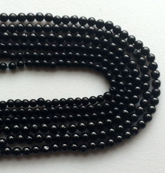 Black Spinel Beads Black Spinel Plain Round Balls by gemsforjewels