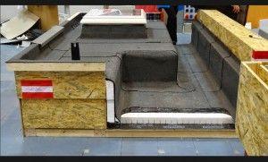 Terasa pe structura lemn. Aplicare hidroizolatie si termoizolatie in sistem stratificat. Membranele elastice rezista fortelor de lucru ale cladirii.