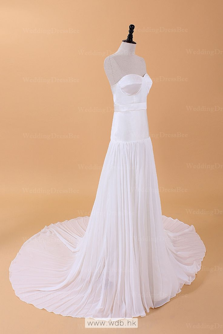 """Simple yet elegant bridal gown $198.98"""