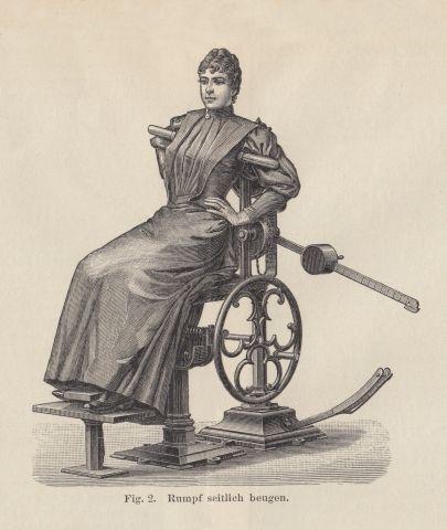 19th Century exercise machines - some inspirational steam punk aesthetics.
