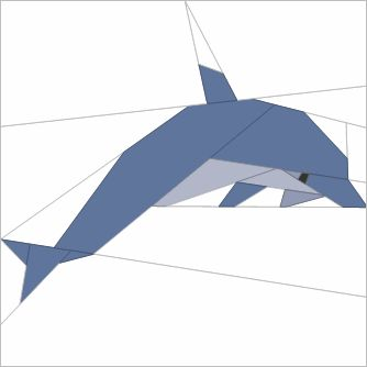 Quilt assistant- free software -Paper pieced dolphin