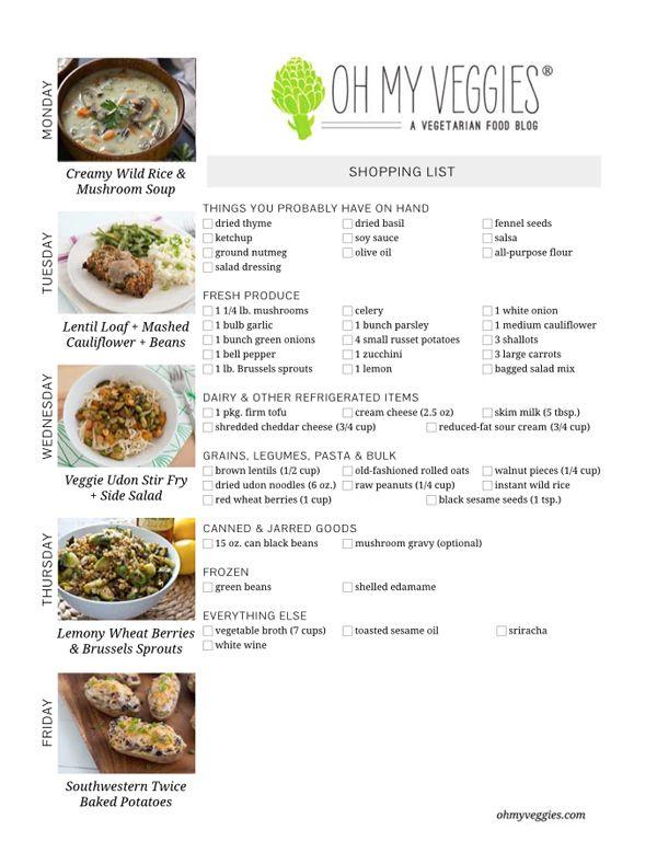 This Week's Meatless Meal Plan   01.13.14