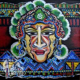 """Topeng Cina"" | Artist : Herry Ashari | Material : Acrylic on Canvas |"