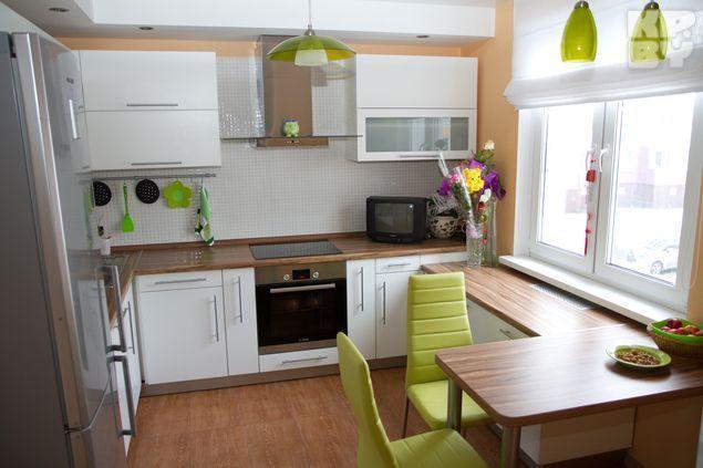 Стильная белая кухня от производителя в Хабаровске. Пластик - Кухни на заказ, пластик, МДФ в Хабаровске - кухни, мебель для дома, офисная мебель, детская мебель