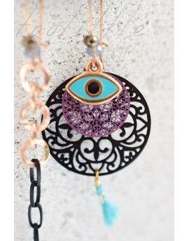 Σκουλαρίκια Black Circle & Eye