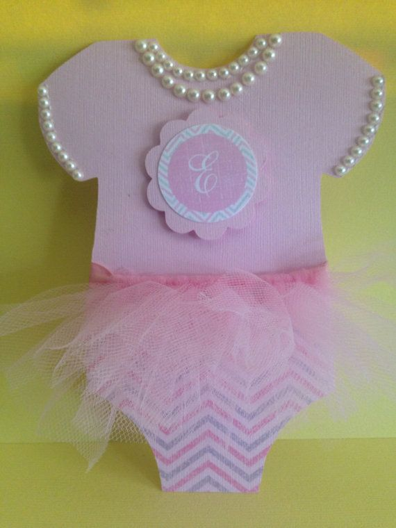 25 TuTu invitations with pearl detail & by PaperDivaInvitations
