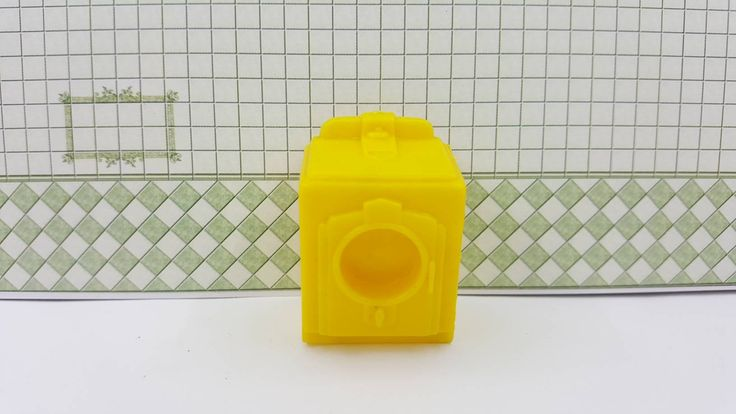 Marx Superior Yellow laundry Yellow Washer or Dryer Soft Plastic
