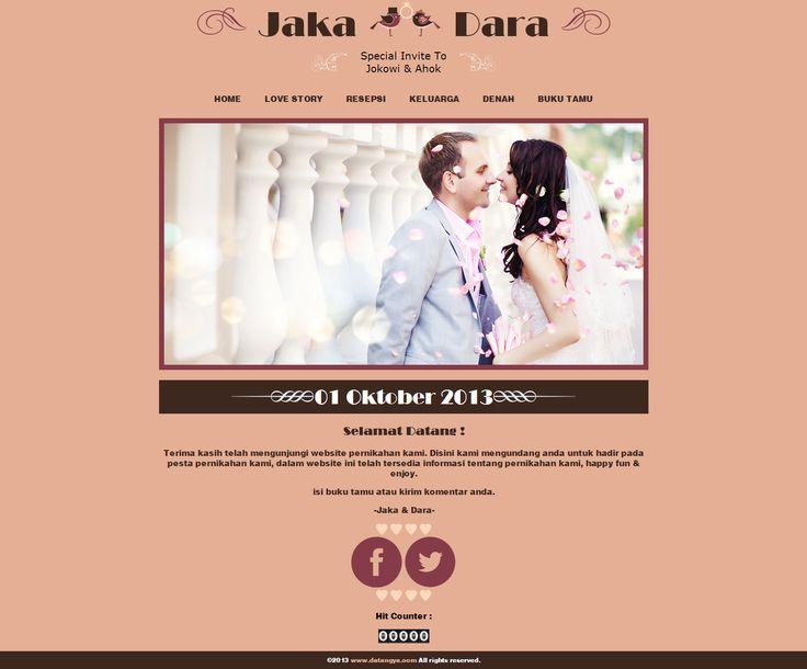 Desain undangan online simpel namun tetap terkesan mewah, Luxury hanya di Datangya.com