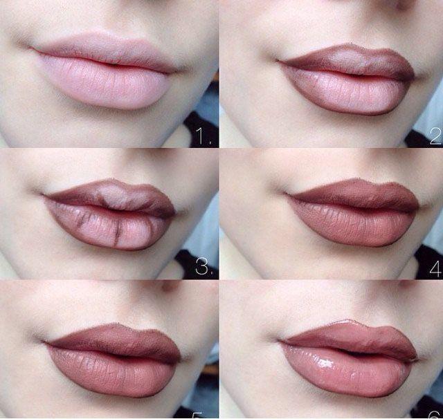 """Техника подведения губ: Убедитесь, что поверхность твоих губ безупречна - не шелушиться и не трескается. Если есть какие-либо недостатки, можно обратиться за помощью к маске из системы """"Satin Lips""""! Подведите губы подводкой, что на несколько оттенков темнее твоего естественного цвета губ. Пусть линии подводки немного уходят за пределы губ. Начните подведение с самой верхней точки губ, постепенно продвигаясь к внешним уголкам. Линии должны быть ровные и равные по толщине. Кисточкой д..."""