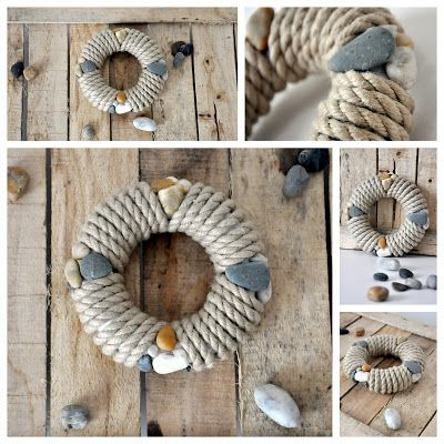 Tengerész kopogtató DIY | Masni, Summer Ahoi, summer door wreath DIY by Masni Decoration