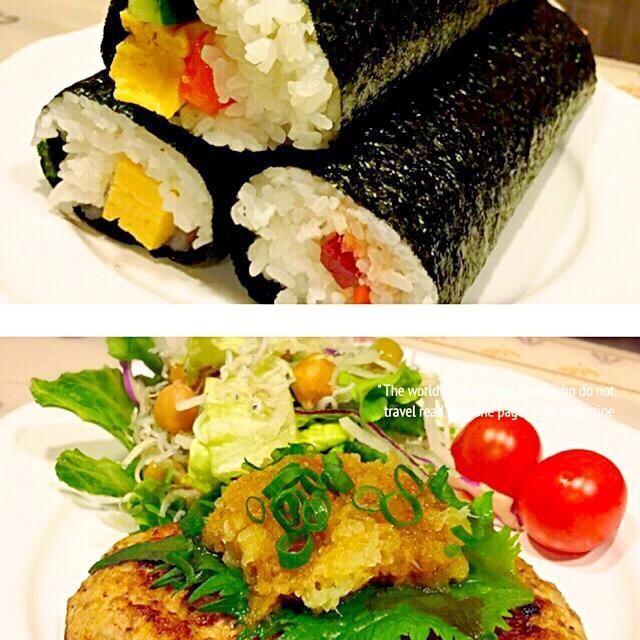 今日は節分なので、いわしと豆腐のハンバーグ♡ 魚苦手な息子も、これなら食べられる(*^^*) - 116件のもぐもぐ - 恵方巻き、いわしと豆腐のハンバーグ、節分サラダ by ayako1015