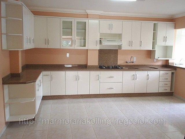 Cozinha em granito Marrom Capri (ID#112629): venda, preço em Santa Catarina. Cozinhas Sob Medidas empresa Marmoraria e Funerária Kolling / Antonio Kolling ME
