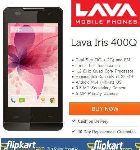 Online #Lava #Iris 400Q Phone Shopping @ http://www.couponpedia.in/buy-lava-iris-400q-online-lava-iris-400q-phone-shopping/