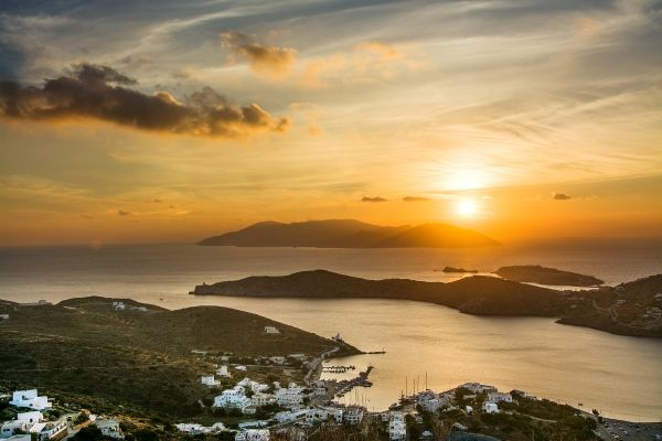 Sunset from Chora, Ios island, Greece