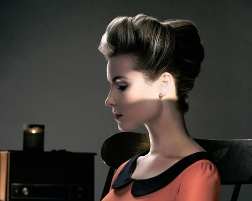 Love this sexy bouffant updo