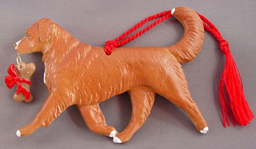 Nova Scotia Duck Toller Dog Christmas Ornament at For Love of a Dog.  Handmade in the USA