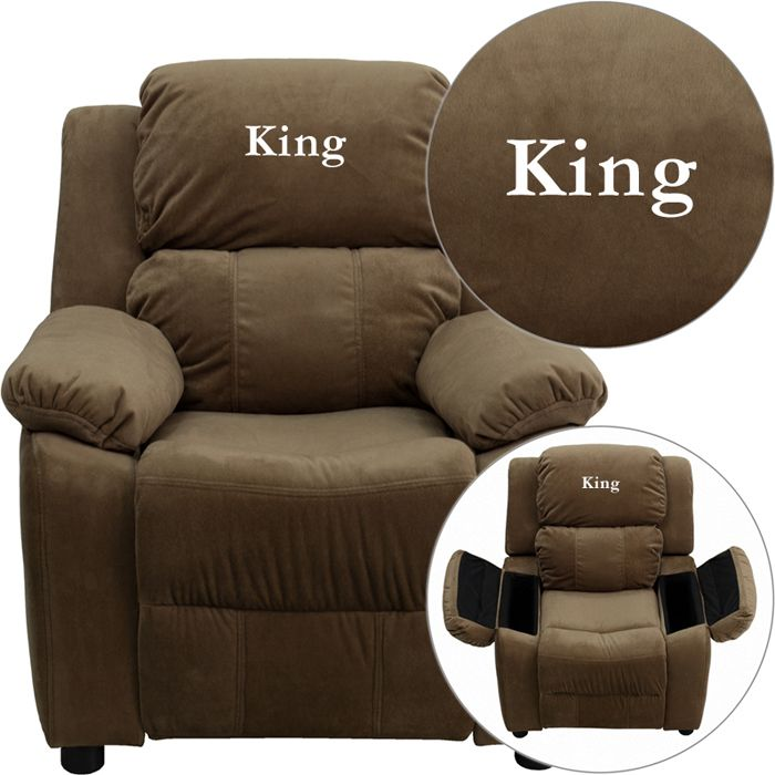King brown microfiber kids recliner. A super comfy recliner!  sc 1 st  Pinterest & 10 best Kids Recliners images on Pinterest | Recliners Cup ... islam-shia.org