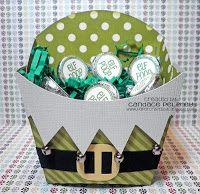 Santa Elf Fry Box - Adapt with Stampin' Up! products - Fry Box Bigz L Die