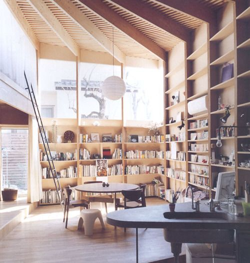 .: Libraries, Dreams, Gorgeous Bookshelves, Books Rooms, Books Shelves, Work Spaces, Tall Window, Reading Nooks, Wood Ceilings