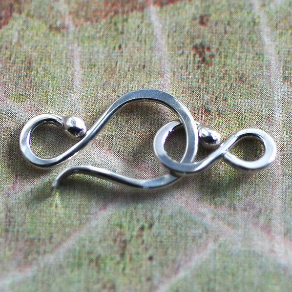 Sterling Silver Hook and Clasp  18 Gauge by FoothillsFindings, $5.95