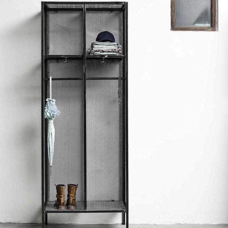 163 595 Iron Storage Locker Metal Wardrobe Wire Wardrobe