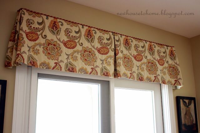 Box Pleat Valance Curtains And Pelmuts Pinterest