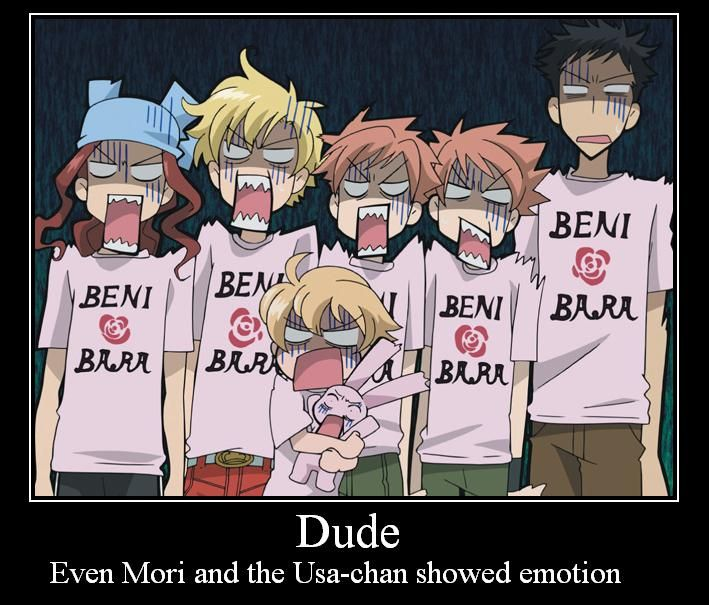 Ouran High School Host Club that means it's not good what they saw!! but it was actually kinda funny...
