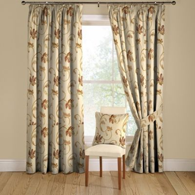 Montgomery Chintz Hemsley Lined Curtains Pencil Heading