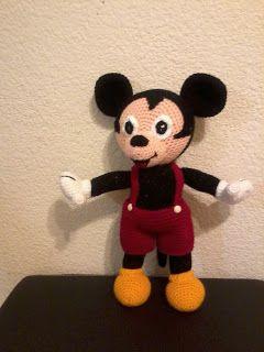 Mickey Mouse Amigurumi - Patrón Gratis en Castellano