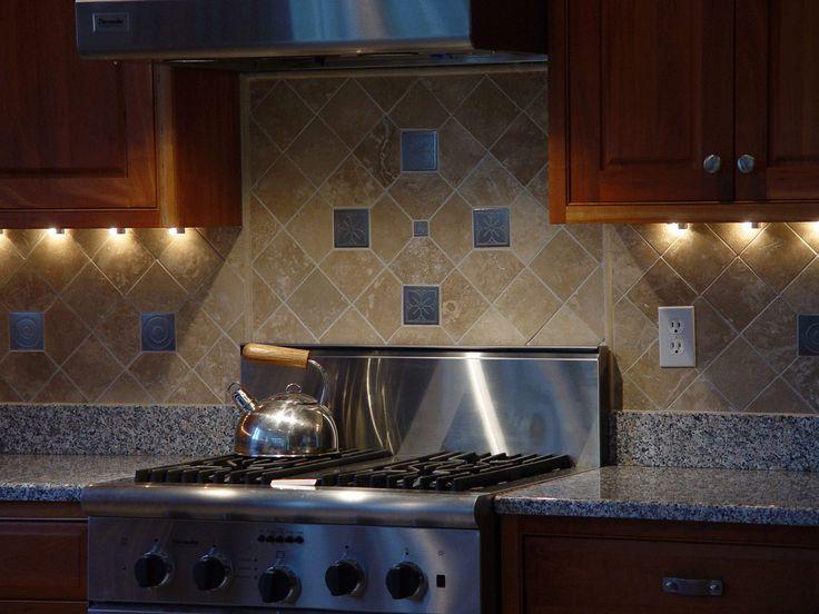 Kitchen Cool Backsplashes Designs With Diagonal