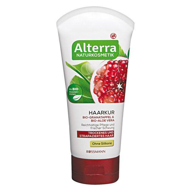 Maska i odżywka do włosów z bio-owocem granatu i bio-aloesem, Alterra