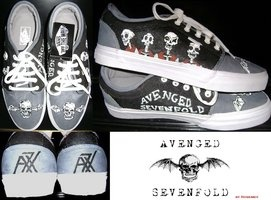 (zapatos de A7X) avenged sevenfold shoes - Google Search