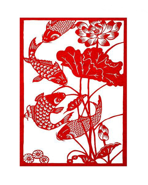 Chinese paper cutting — fishes
