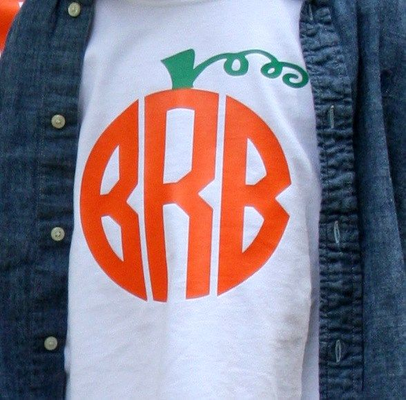 Personalized Kids Monogrammed Pumpkin Shirts! So cute for Halloween & Fall! | over 50% off on Jane.com