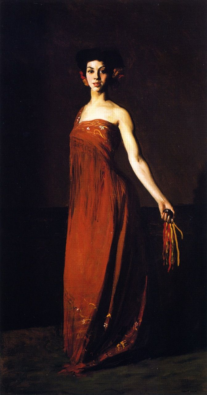 Spanish Dancer - Seviliana (1904). Also known as Dancer with Castanet. Robert Henri (American, 1865-1929). Oil on canvas.