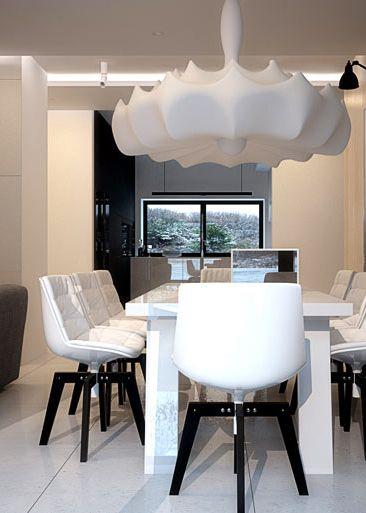 Dining room design in Pławniowice POLAND - archi group. Jadalnia w domu jednorodzinnym w Pławniowicach.