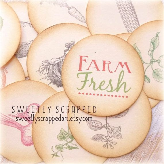 FARM Fresh Embellishment Tags ... Aged by SweetlyScrappedArt