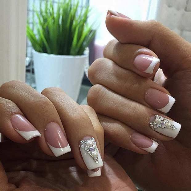 30 Elegant Wedding Nail Designs #naildesignideaz #naildesign  #weddingnaildesign #weddingnails #wedding  ♥ If you enjoyed my pin, pls visit us at http://naildesignideaz.com/ ♥