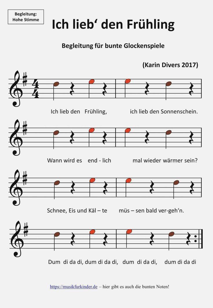 Ich lieb den Frühling Noten - Musik für Kinder in 2020