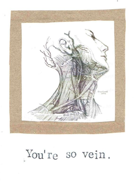 You're So Vein Card Anatomy Science Funny Medical by ModDessert