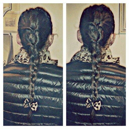Treccia#look leopardato#fiocco#foulard