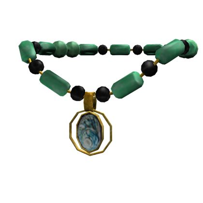 Jade Necklace with Shell Pendant - ROBLOX