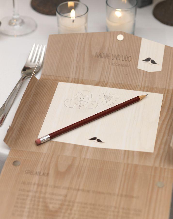 Gastgeschenk und Hochzeitsspiel in einem - Sie suchen noch nach etwas, das Ihre Gäste auf nette Weise beschäftigt? Wie wäre es denn mit dieser Idee?