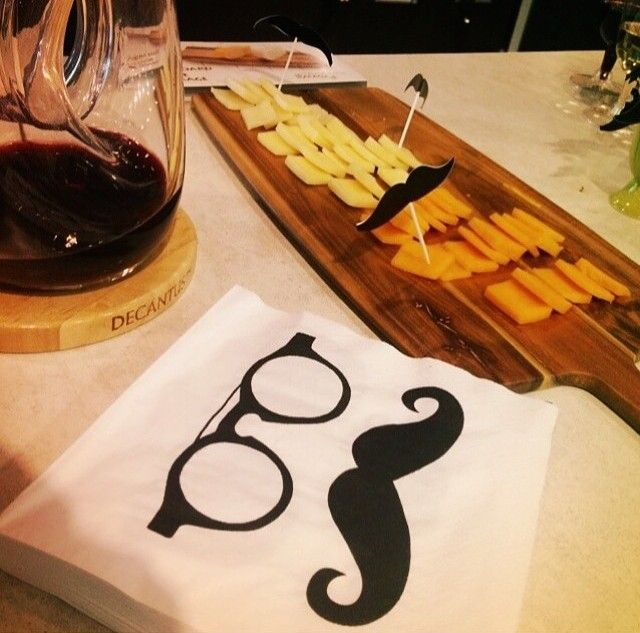 wine, cheese and cool napkins