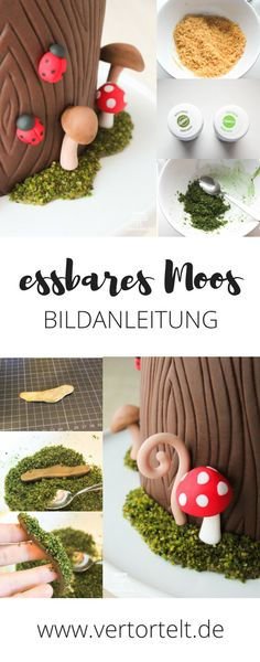Anleitung für essbares Moos | Waldtorte | www.vertortelt.de