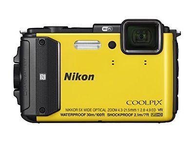 Nikon digital camera COOLPIX AW130 yellow YW from JAPAN